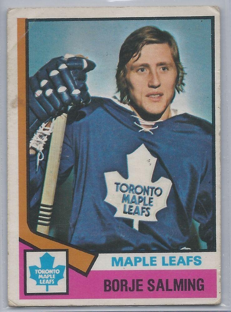 1974-75  OPC Borge Salming RC Toronto Maple Leafs # 180 #TorontoMapleLeafs