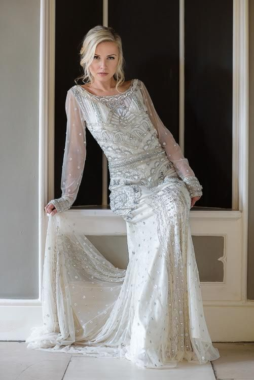 1920s Inspired Dress 1920s Style Wedding Dresses Wedding Dresses Beaded Wedding Dresses