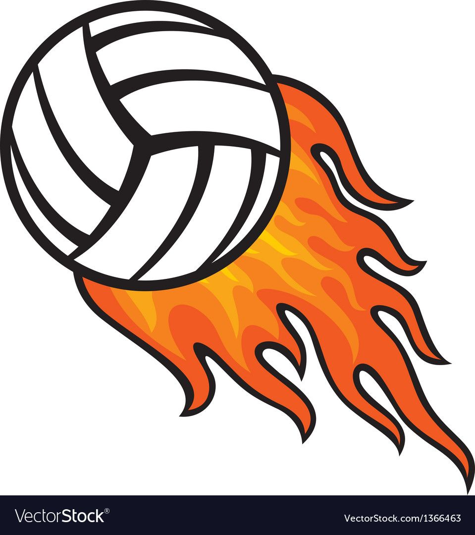 Volleyball Ball In Fire Royalty Free Vector Image Affiliate Fire Ball Volleyball Royalty Ad Sports Drawings Volleyball Drawing Volleyball Posters