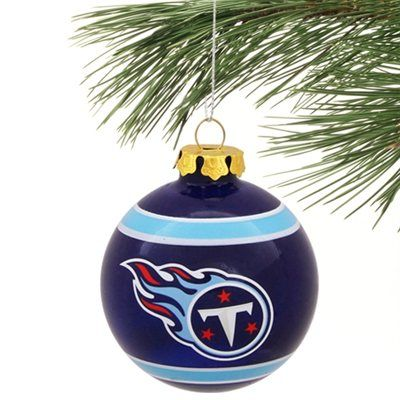 Tennessee Titans Slogan Glass Ball Ornament - Navy Blue | decor<3 ...