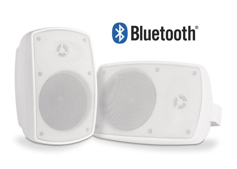 5 25 Bluetooth Outdoor Patio Speaker Pair W Waterproof Power Supply Black Or White Btp525 Outdoor Bluetooth Speakers Pool Decks Patio Deck
