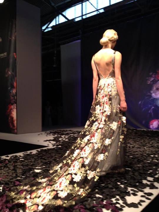 Claire Pettibone 'Raven' wedding dress, Still Life Collection, 2014 Fashion Show, Bridal Market | Photo: Unbridaled