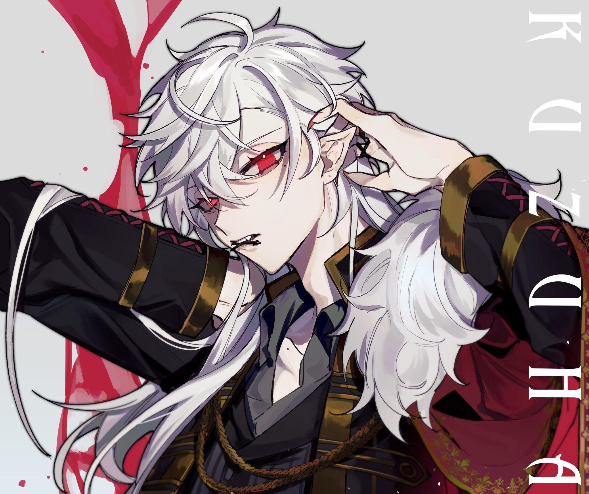 Pin By Iilllili Il Lllilii On Chronoir Cool Anime Guys White Hair Anime Guy Anime Guys