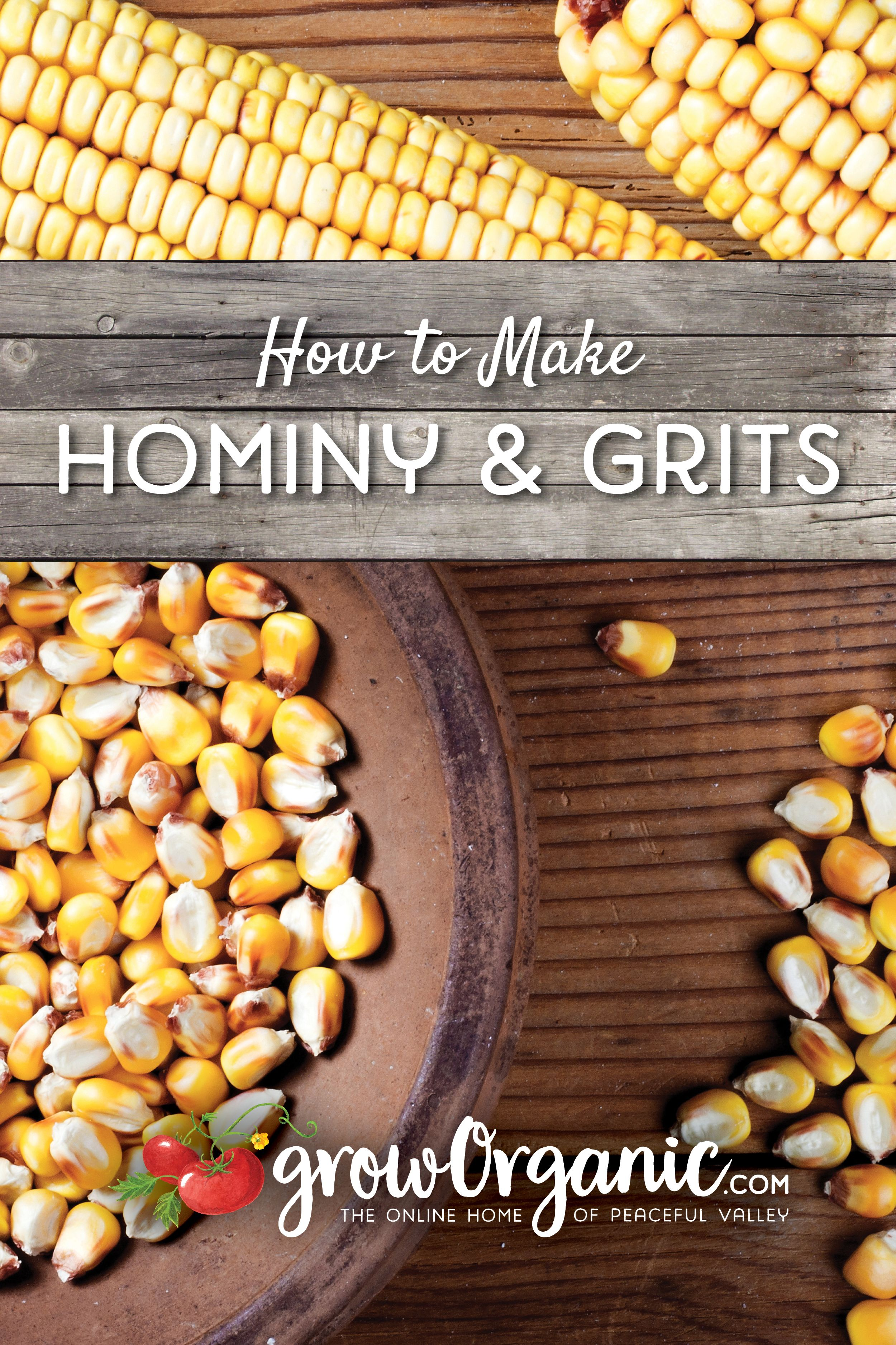 How to Make Hominy and Grits Hominy grits, Hominy, Grits