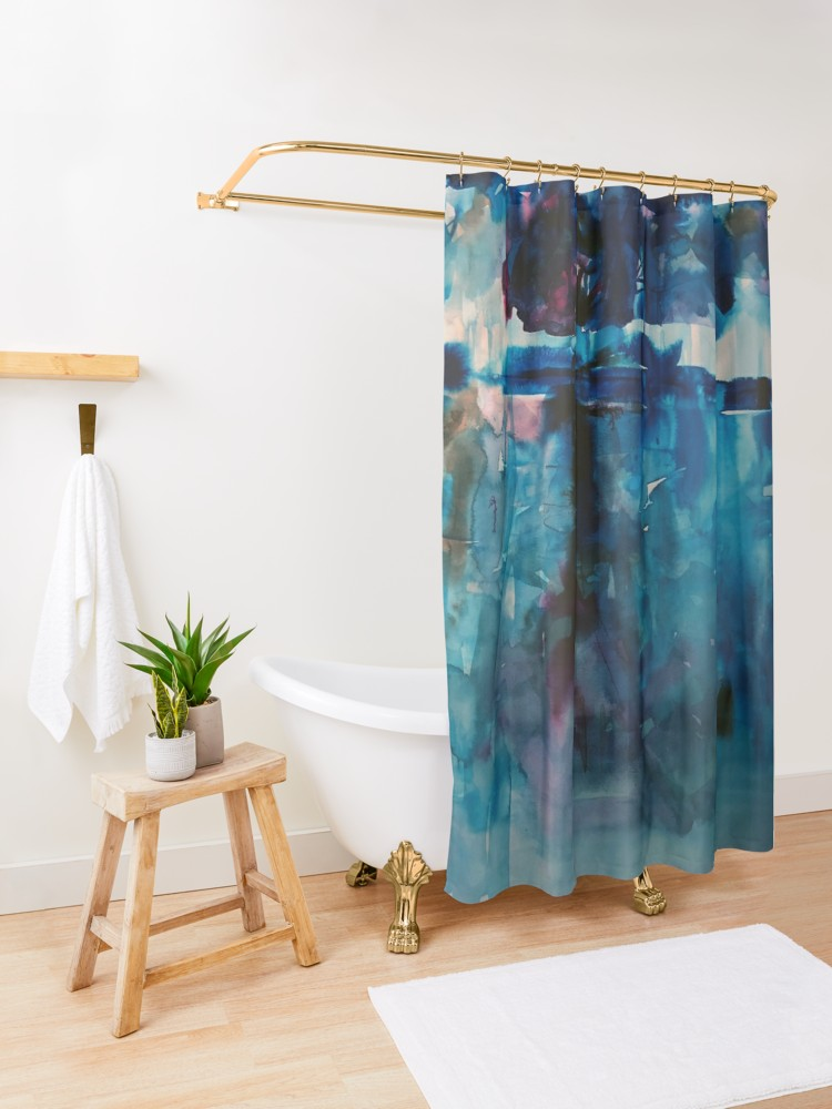 Blue Landscape Shower Curtain By Marianna Tankelevich In 2020