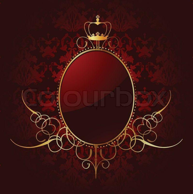 Royal roten Hintergrund mit goldenen Rahmen Vektor | Stock-Vektor | Colourbox on Colourbox