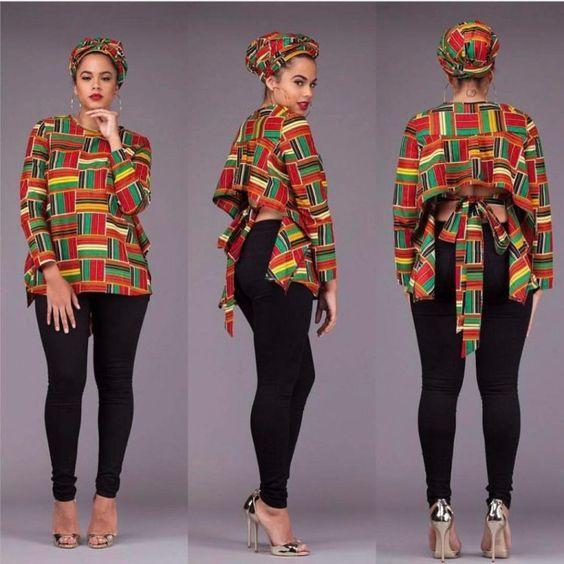 Ankara kitenge Tops 25 Styles – Reny styles kitenge Tops