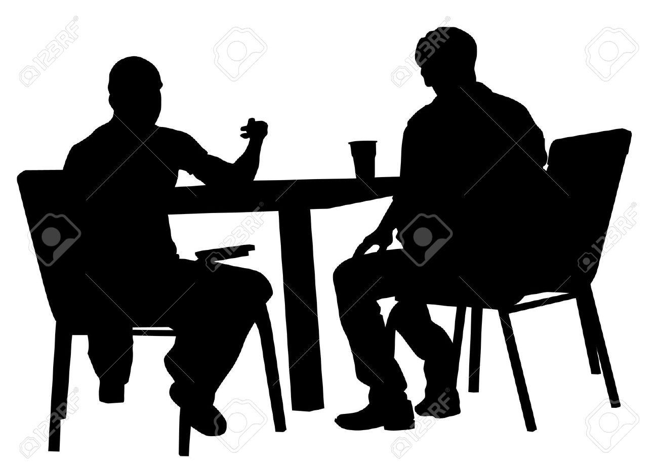 silhouette of people - Google Search | silhouette | Pinterest ... for People Sitting At Table Png  570bof