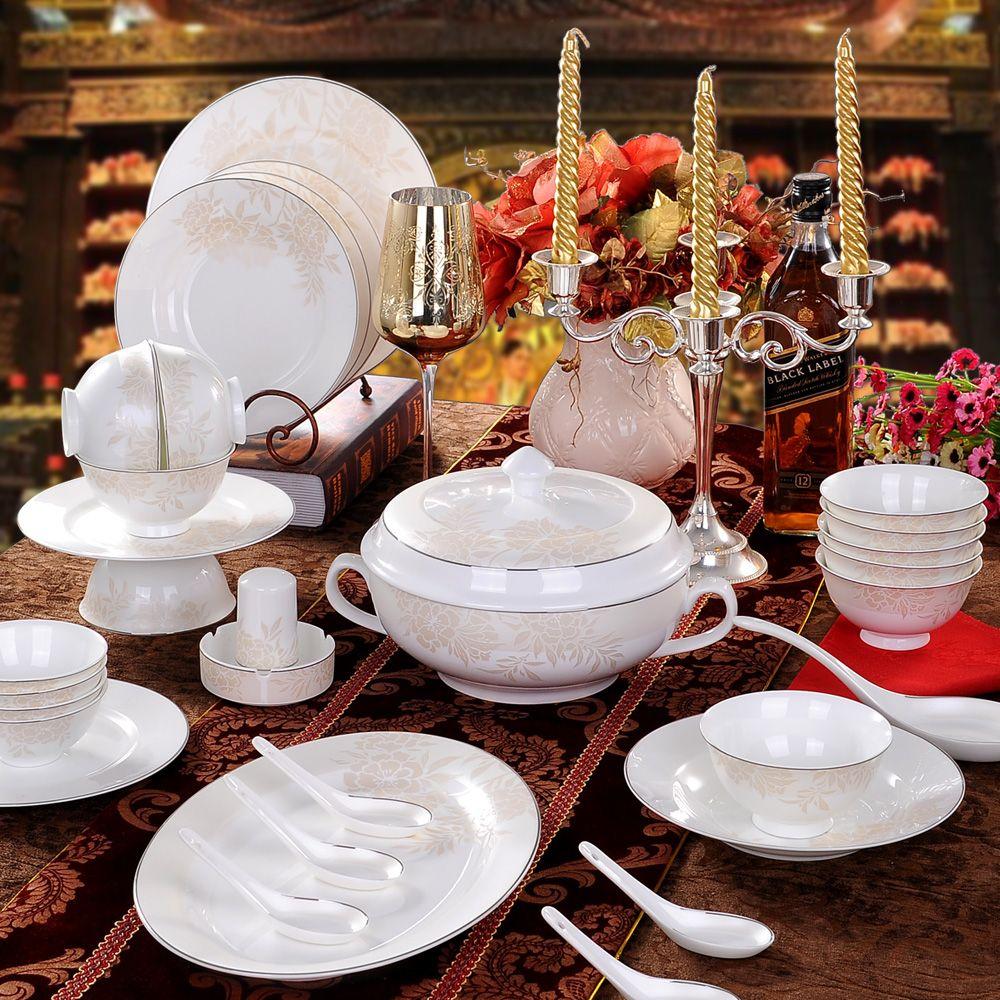 Aliexpress Com Buy Ceramics 56 Quality Bone China Dinnerware Set Dishes Dish Marriage On China Ceramics Wholesaler