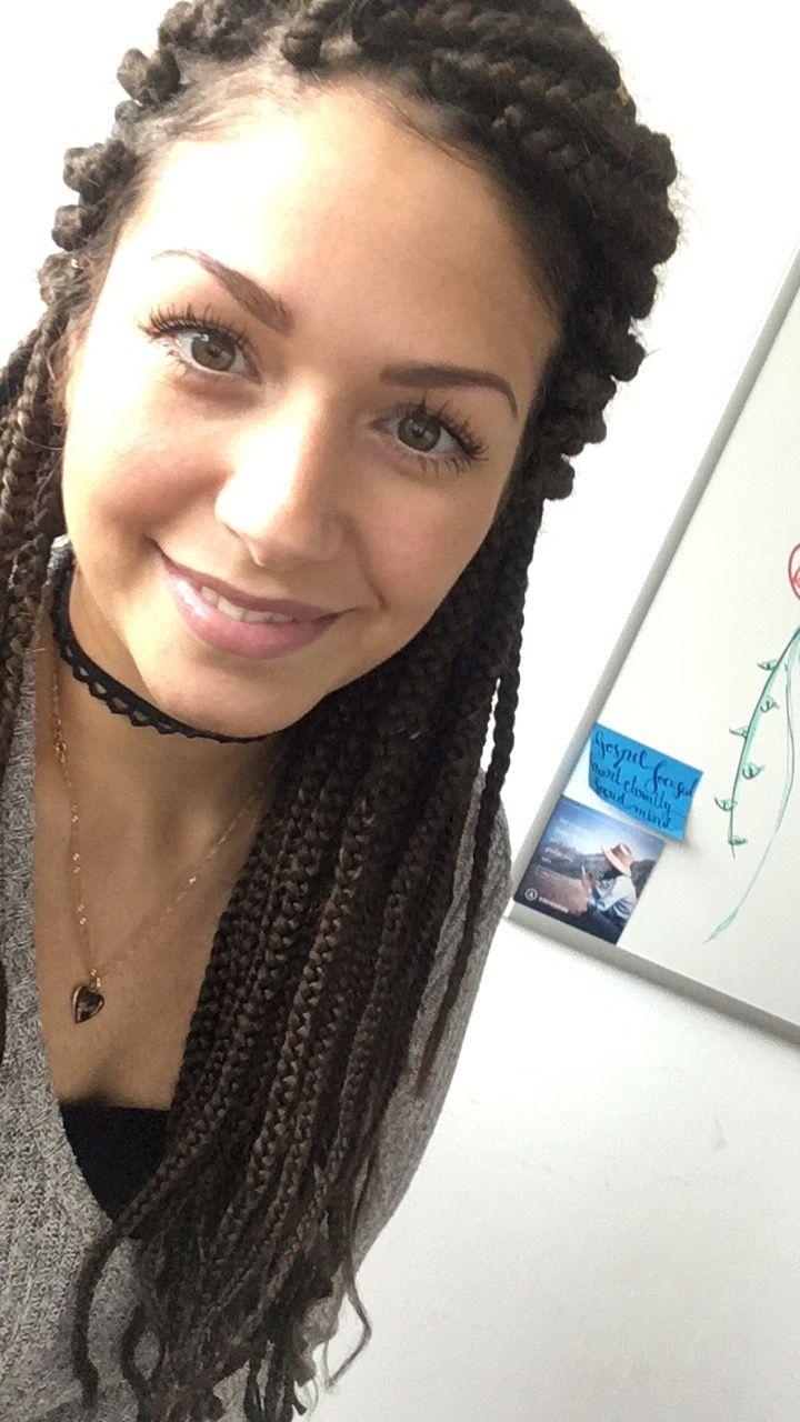 White girl with box braids braids boxbraids whitegirlwithbraids