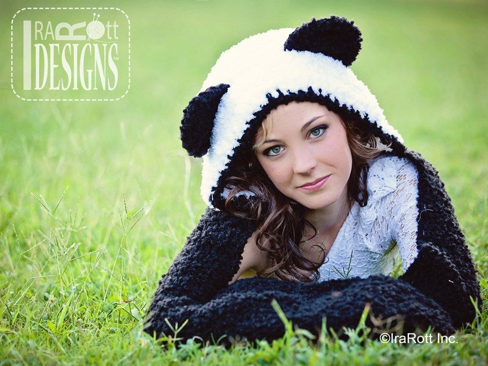 Pdf crochet pattern for making a warm and stylish panda scoodie with pdf crochet pattern for making a warm and stylish panda scoodie with paw pockets dt1010fo
