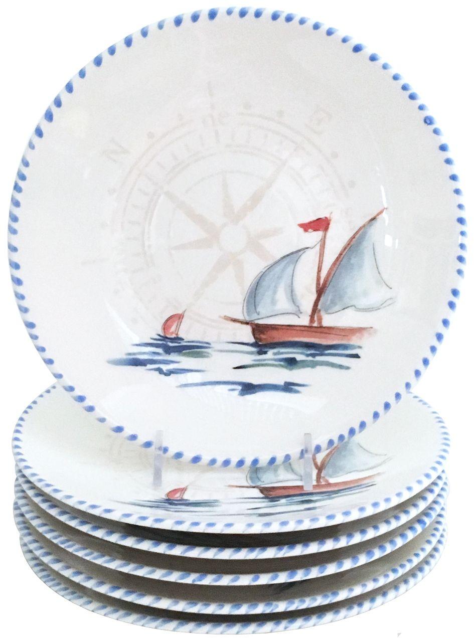 Sailboat Dinner Plates - Set of 6  sc 1 st  Pinterest & Sailboat Dinner Plates - Set of 6 | Dinnerware Dinner plate sets ...
