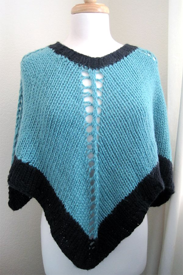 Free Knitting Pattern for Easy-Knit Poncho - Poncho knit ...