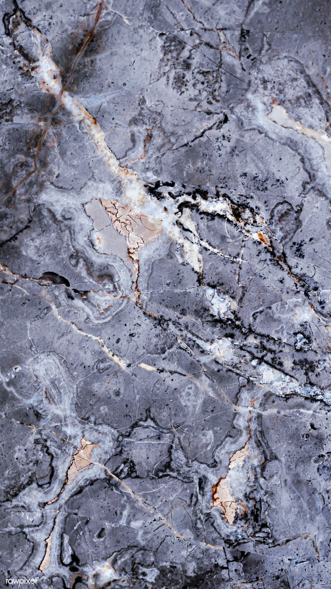 Download premium image of Gray marble texture with streaks mobile