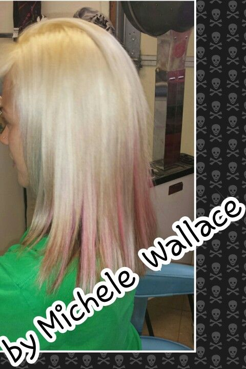 Blonde and pink