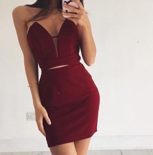 Sexy homecoming dress,cute prom dress short ,new fashions burgundy cocktail dresses MT20187307 -   15 dress Tight rocks ideas