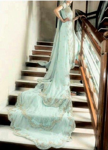 Mint Green Wedding Dress With Long Tail Green Wedding Dresses