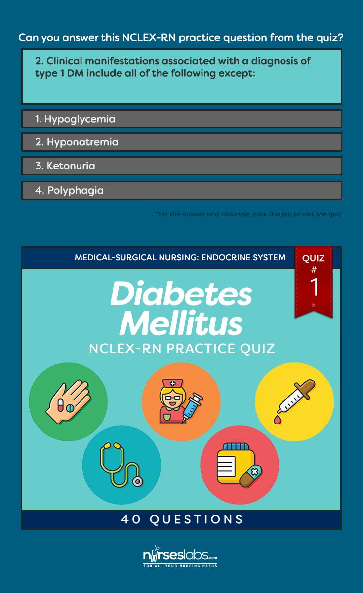 Quiz #1: Diabetes Mellitus NCLEX Practice Exam (40 Questions