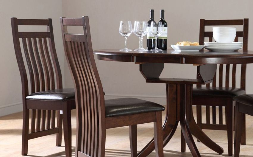 33+ Dark wood dining room table and chairs Inspiration