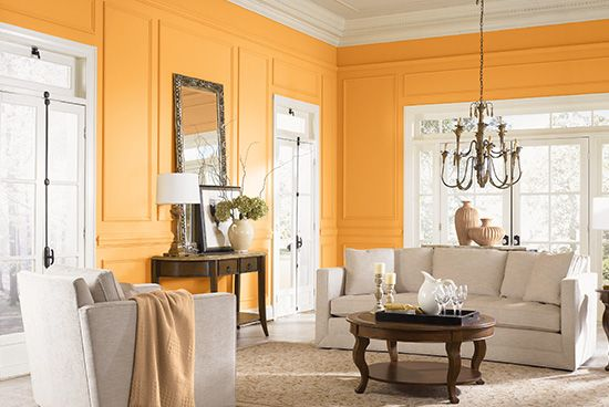 Sophisticated Living Room Vibrant Colors