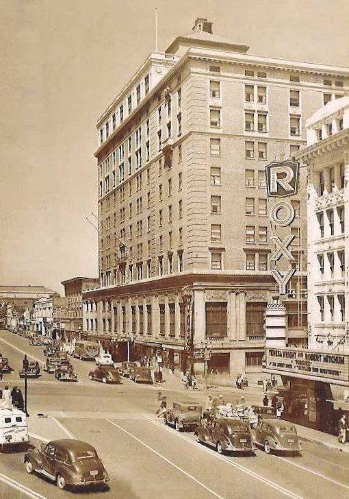 Broadway And 9th St Winthrop Hotel In Background C 1947 Washington State Parks Tacoma Washington Washington State History