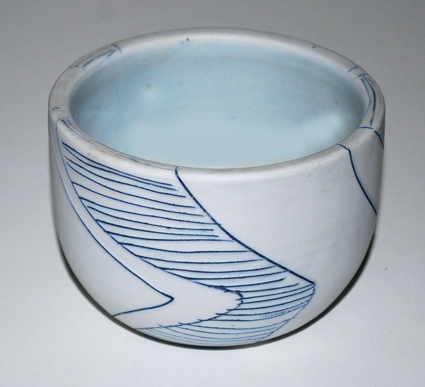 Birgit Krogh, bowl in porcelain, own studio Denmark.