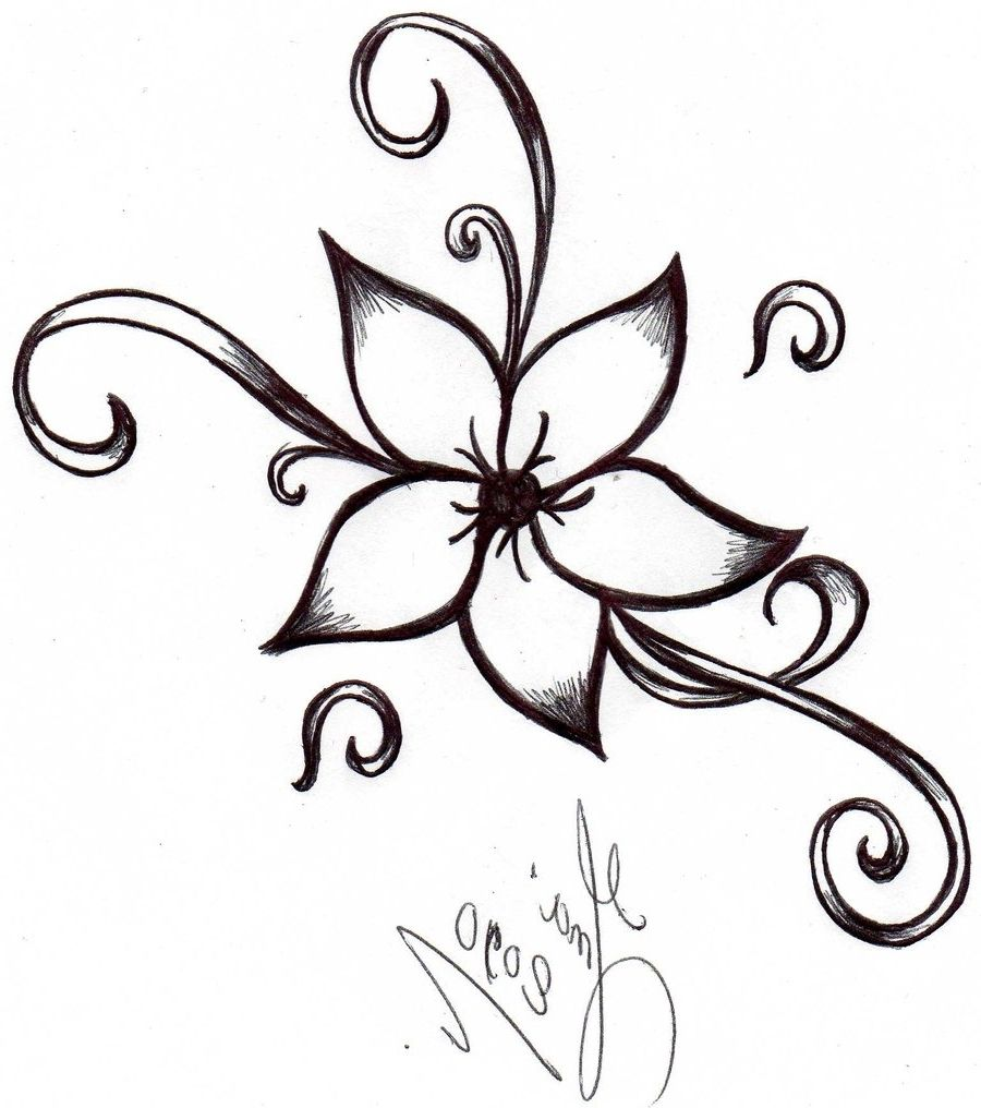 Cute easy flowers to draw drawing artisan art for Cute easy patterns to draw