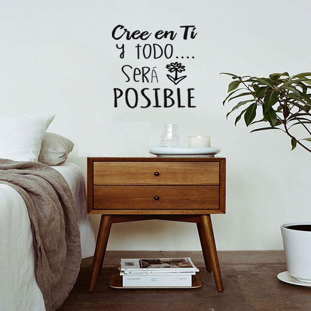 Frase vinilo cree en ti y todo ser posible vinilos for Vinilos decorativos pared