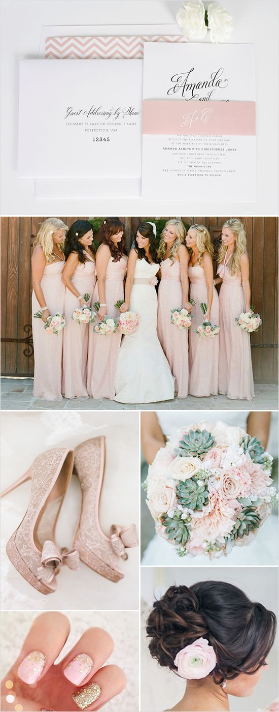 Elegant pink wedding ideas + matching wedding invitation http://www.weddingchicks.com/2015/01/16/elegant-wedding-invitations