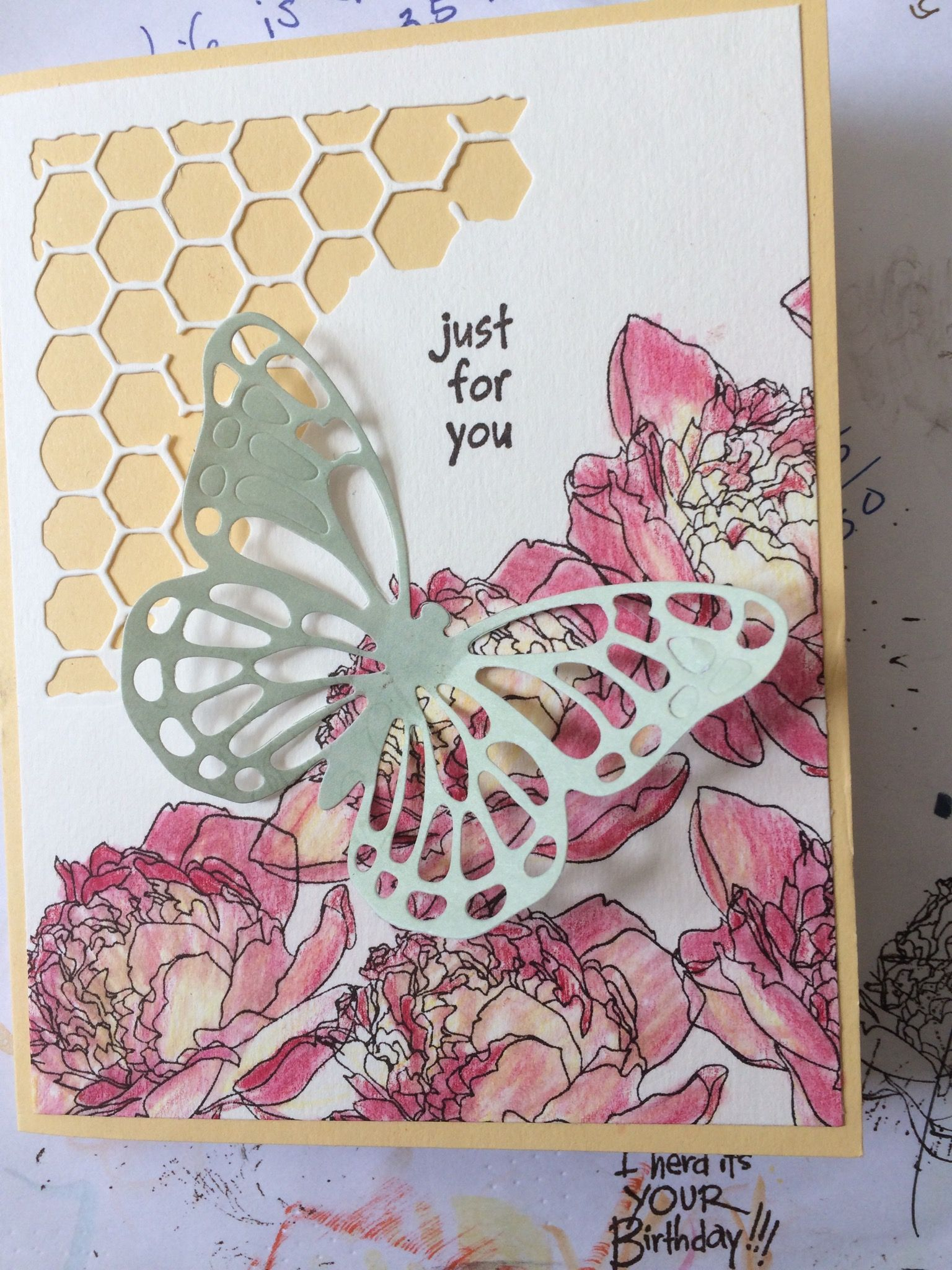 Stampin Up butterfly and Tim Holtz die