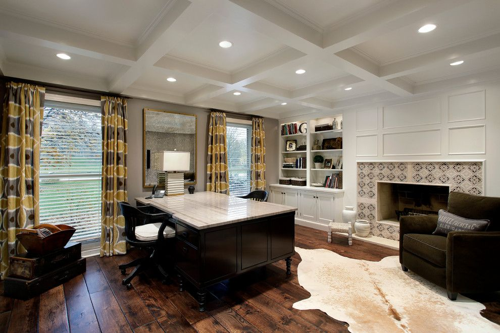 Two Sided Desk Home Office Transitional