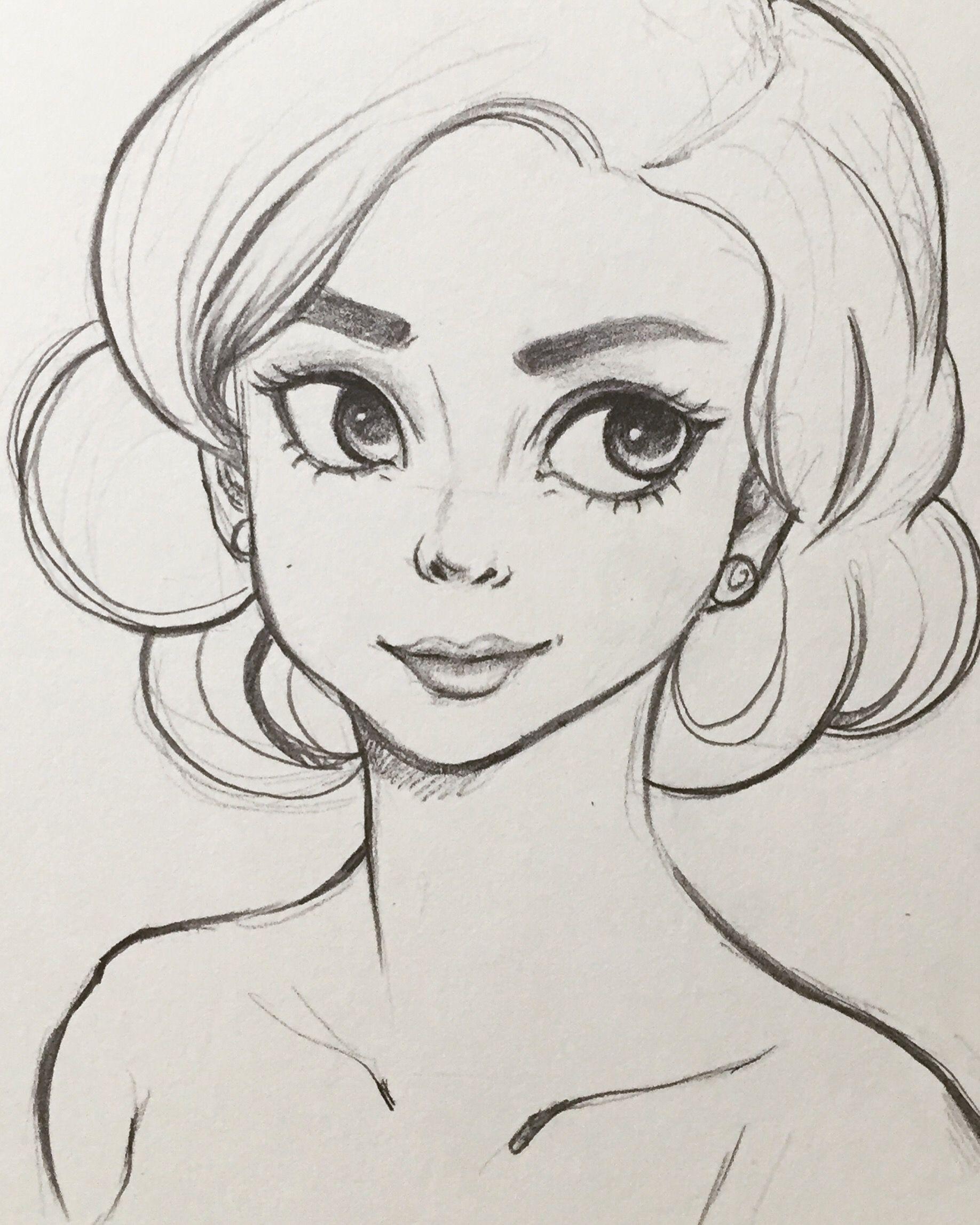 Срисовывать картинки девушек карандашом
