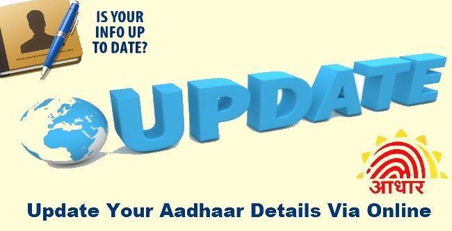 Update Information Of Your Aadhaar Card Online Address Name Cards Online Update