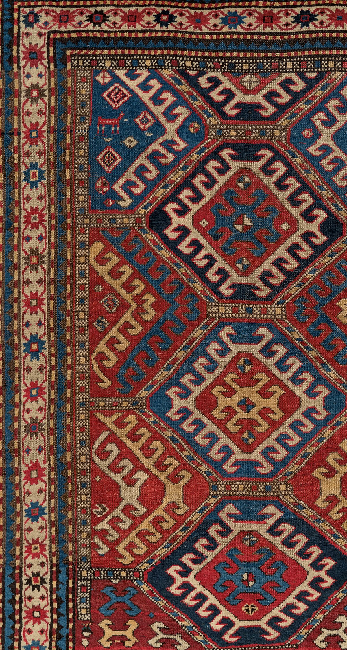 Antique Southwest Caucasian Karabagh With Wheel Of Life Medallions And Tribal Devices Antique Rug Claremont Rug Compan In 2020 Claremont Rug Company Rugs Rug Company