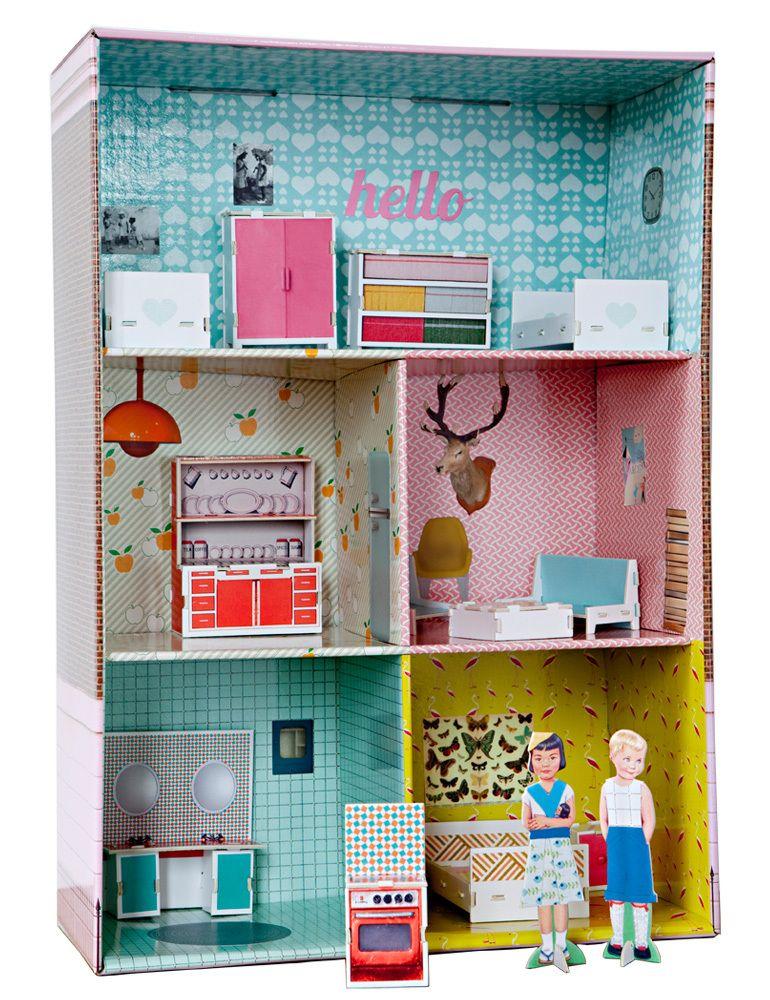 poppenhuis #karton | tiphainemangan | For the kids | Pinterest ...