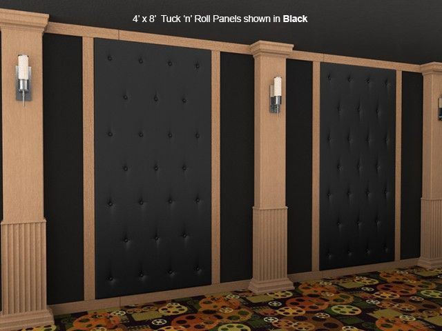 Soundright Tuck Roll Panel Acoustical Wall Panels Home Theater Decor