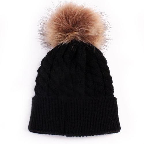 Newborn Kids Girl Boy Cute Winter Baby Hat Fur Ball Pompom Cap Winter  Knitted Wool Hats Caps for Girls Hemming Hat Beanies bc12de193789
