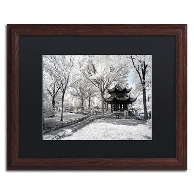 "Trademark Art ""Coldness"" by Philippe Hugonnard Framed Photographic Print Size: 11"" H x 14"" W x 0.5"" D, Matte Color: Black"
