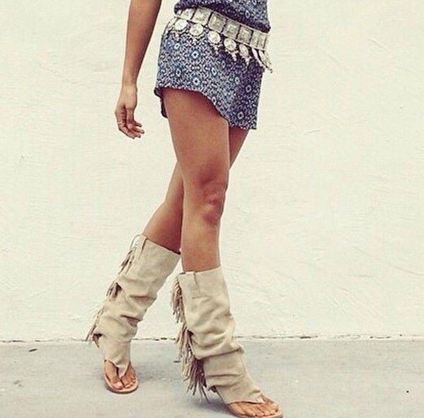 Sandals Boots Boholove Chic Boho Indian Beige Shoes xdoWrCBe