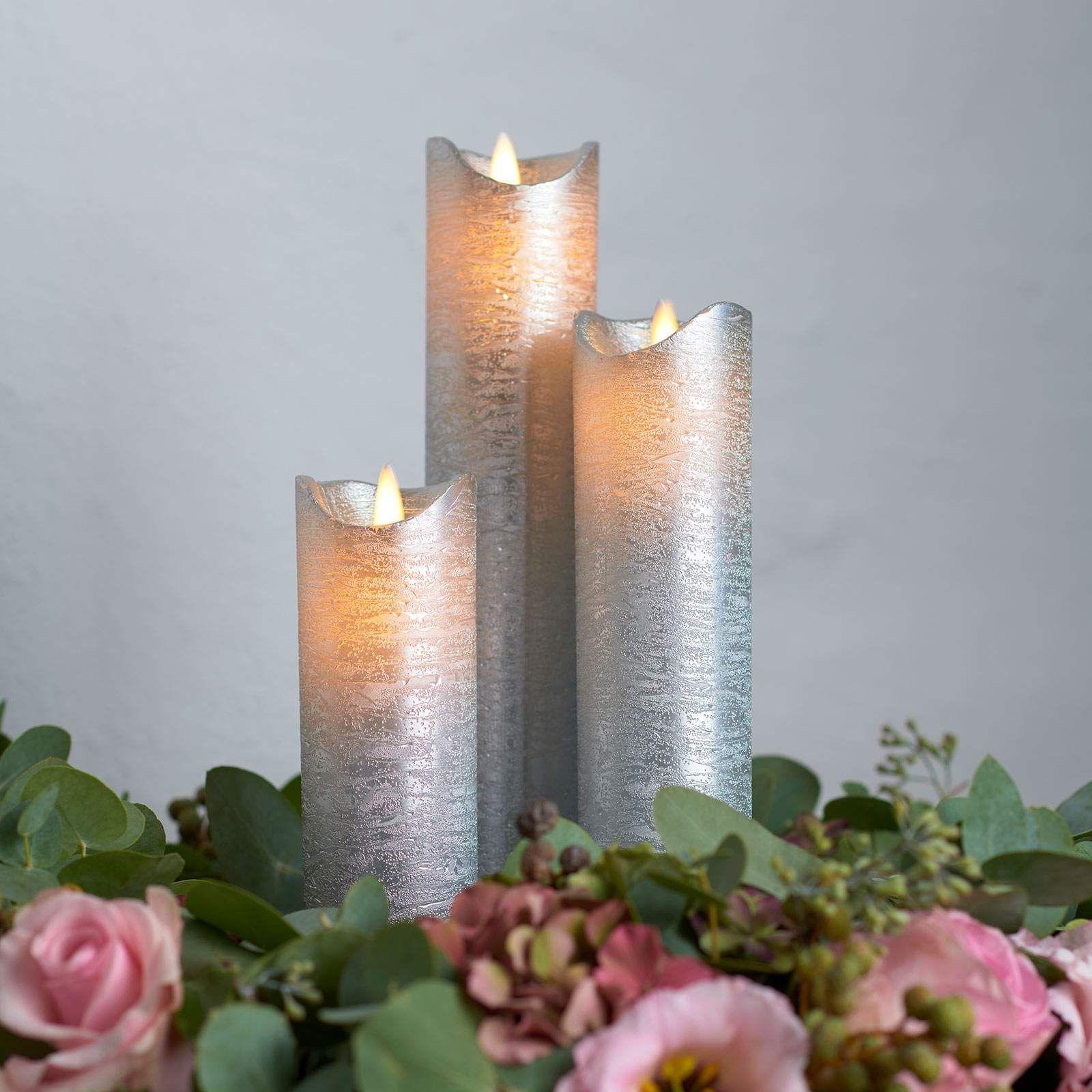 Led Kerze Sara Exclusive Von Sirius Silber Led Kerzen