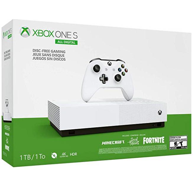 Xbox One S 1tb All Digital Edition Console Disc Free Gaming Xbox One S 1tb Xbox One S Xbox One