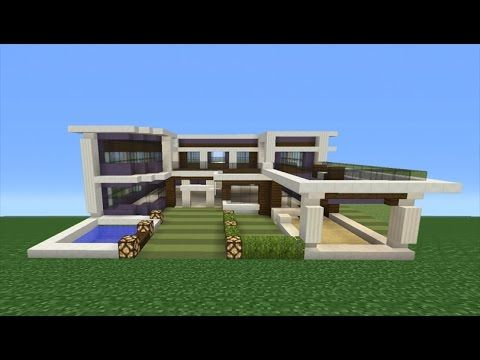 Minecraft Tutorial: How To Make A Modern Mansion - 2 ...