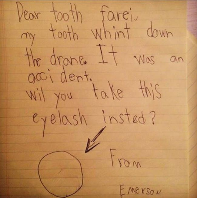 15 Adorable Letters To The Tooth Fairy Via Huffington Post Gotta Respect These Kids You Want A Pay Up