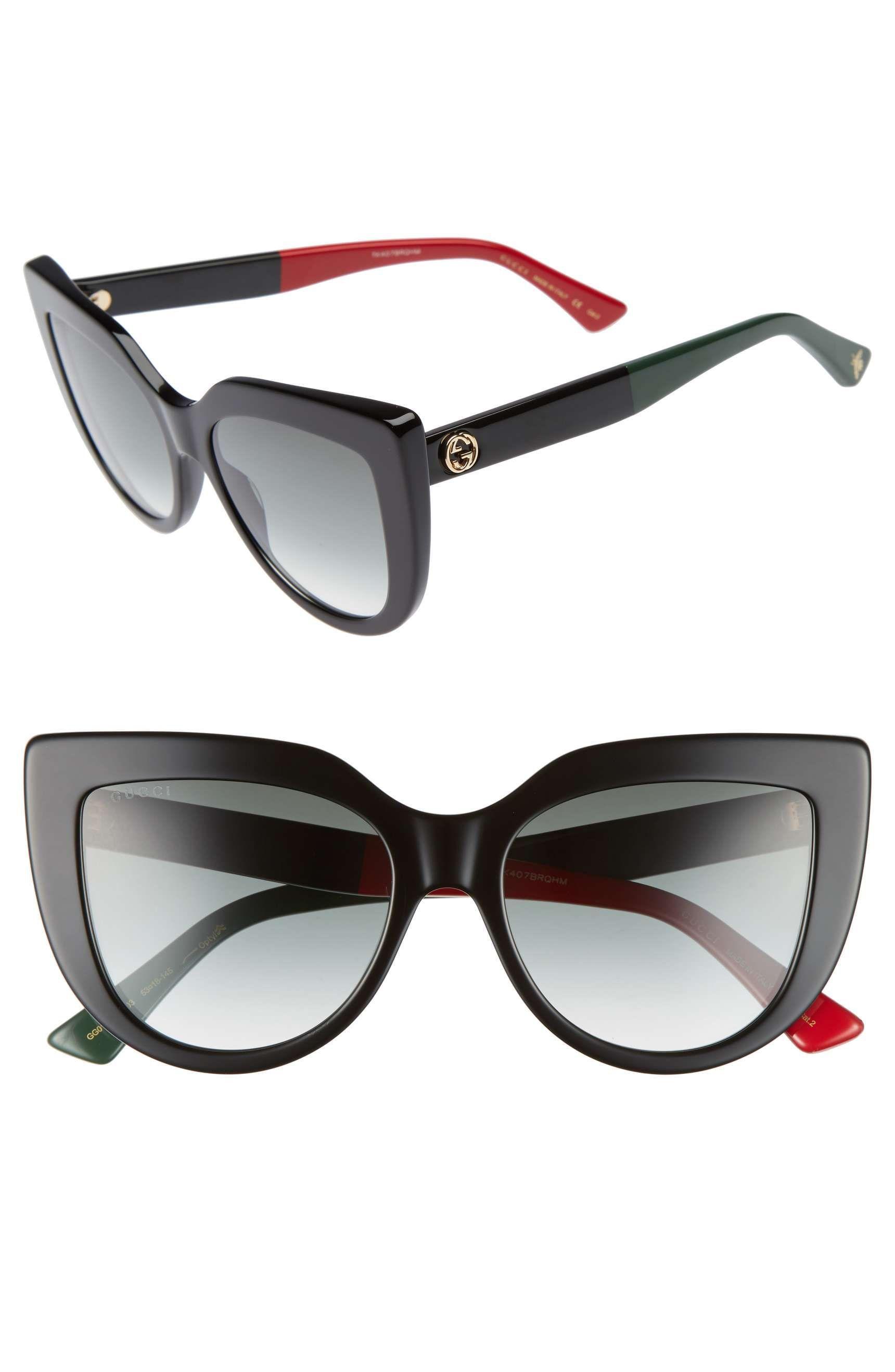 a20f4e62ce Main Image - Gucci 53mm Cat Eye Sunglasses