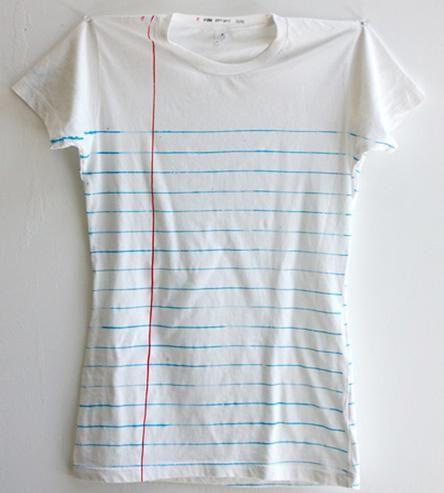 Women\u0027s Loose Leaf Notebook Paper Print T-Shirt Leaves, Printing