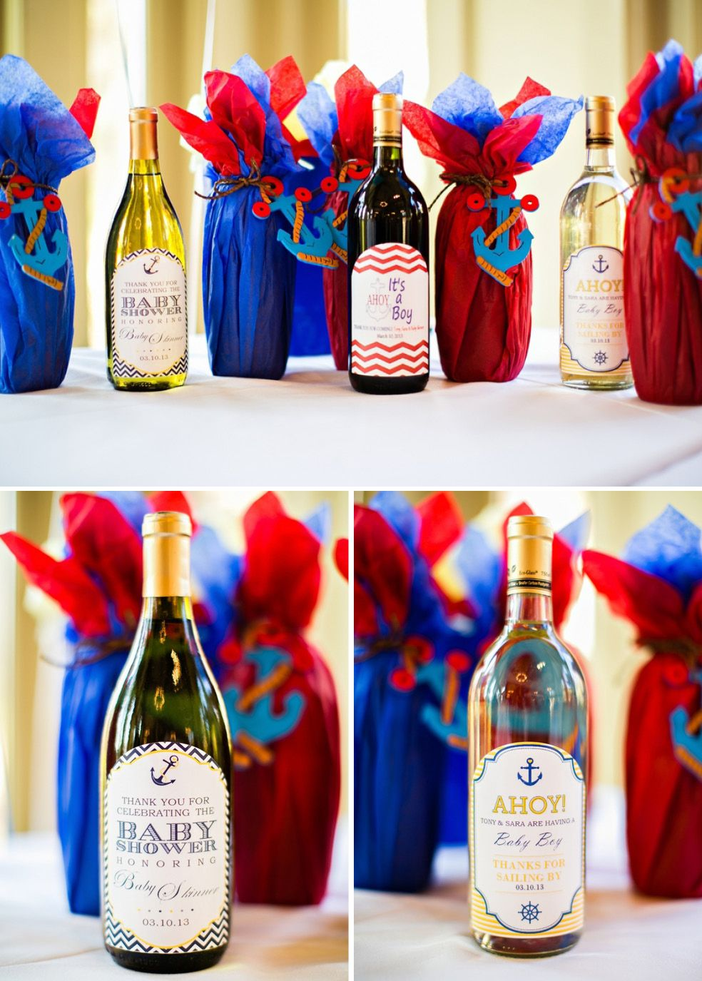 Navy, Yellow And Red Sailor Themed Boys Baby Shower   The Celebration  Society