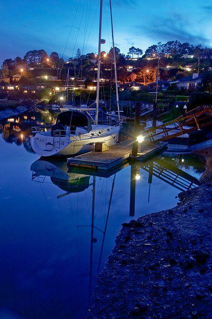Sail boat in Strawberry, California night via flickr