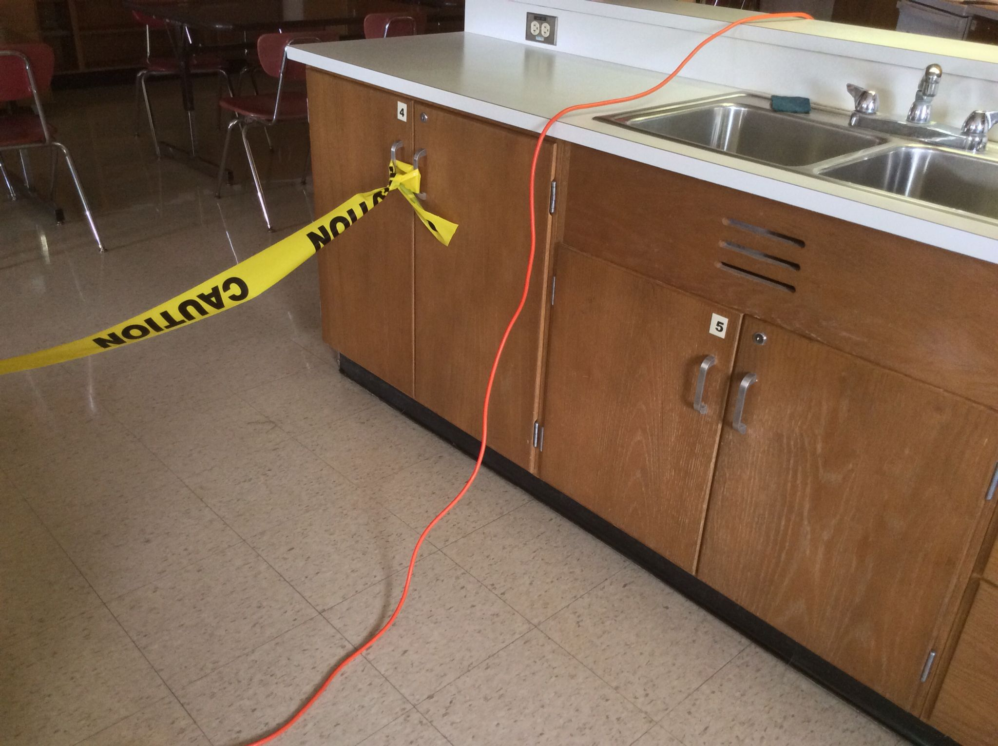 Extension Cord Over Counter And On Floor With Images