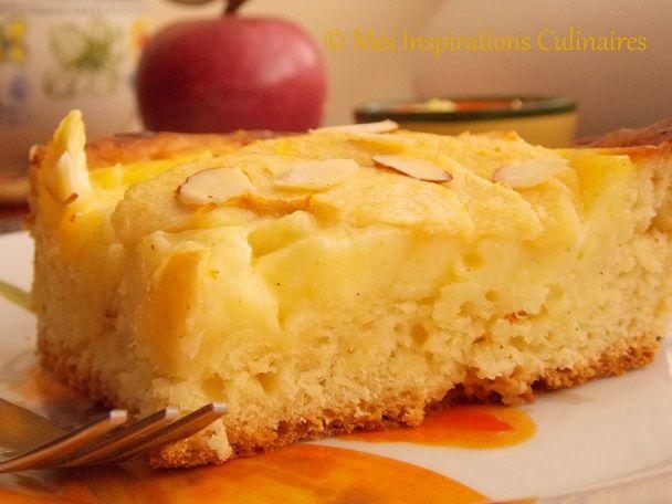 tarte briochée aux pommes et crème patissiere   recipe