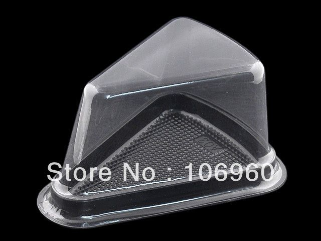 25 Xclear Plastic Triangle Cake Box Cheese Mousse Pastry Cream Container Pod High Quality Sturdy Cupcake Pods F Box Cake Cupcake Packaging Coffee Shop Design